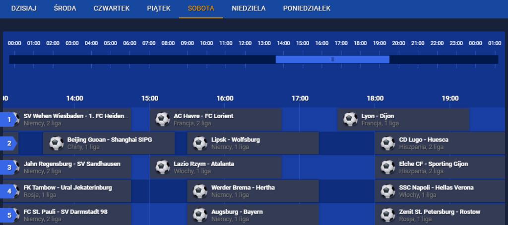 Kalendarz meczów live